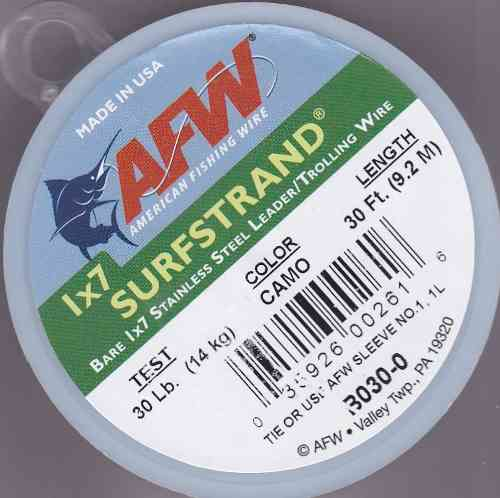 AFW 30lb Surfstrand Trace Wire